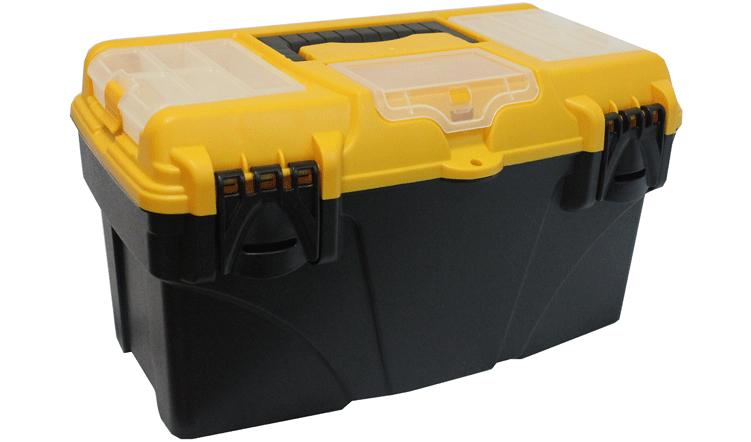 Ящик для инструментов Idea Титан 21, с коробками, 53 х 27,5 х 29 см98295719Ящик Idea Титан 21 изготовлен из прочного полипропилена и предназначен для хранения и переноски инструментов. Вместительный ящик внутри имеет большое главное отделение. В комплект входит съемная коробка для небольших инструментов и аксессуаров. Крышка ящика оснащена тремя секциями с двумя ячейками каждая, которые закрываются прозрачной крышкой с защелкой. Для более комфортного переноса ящика в руках на крышке предусмотрена удобная ручка. Кроме того, крышка снабжена двумя защелками, которые не допускают случайного открывания. Размер ящика: 53 х 27,5 х 29 см.