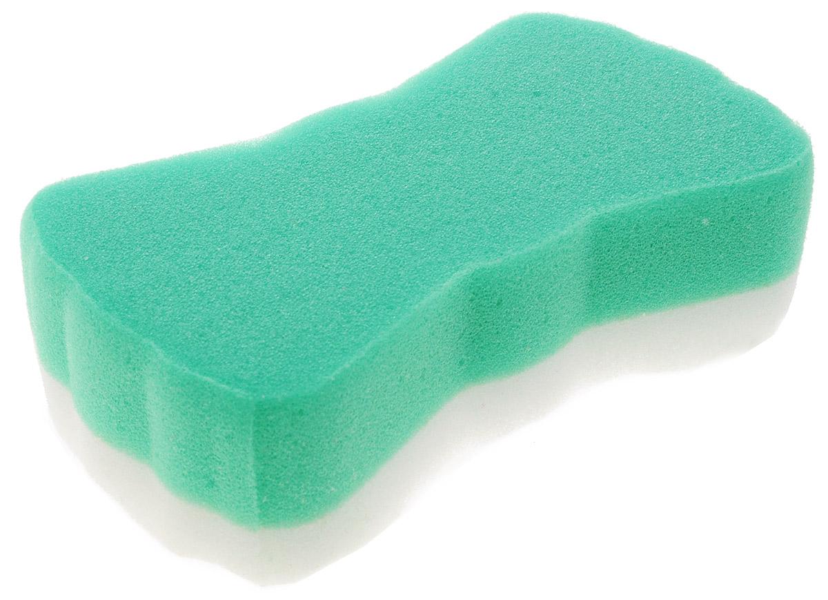 Курносики Мочалка с массажным слоем цвет зеленый белый, Мир Детства