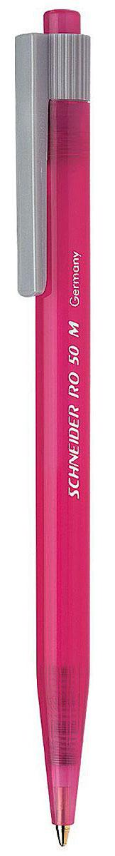 Schneider Ручка шариковая RO50 цвет корпуса розовыйS305-01/0_розовыйАвтоматическая шариковая ручка Schneider RO50 станет незаменимыми атрибутом учебы или работы. Корпус ручки выполнен из полупрозрачного пластика. Высококачественные светоустойчивые и водостойкие синие чернила позволяют добиться идеальной плавности письма. Ручка имеет практичный пластиковый клип для удобной фиксации на бумаге или одежде.Надежная ручка строгого классического дизайна станет верным помощником для студента и офисного работника