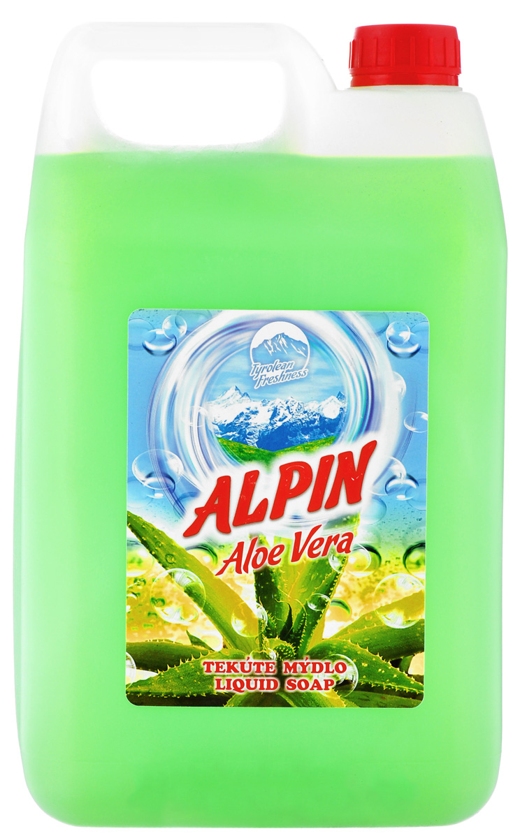 Жидкое мыло Alpin Aloe Vera, 5 л madina olive soap 3 5 oz with aloe vera