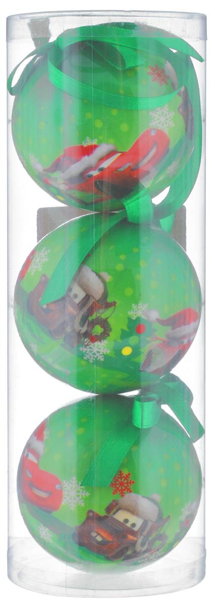 Набор новогодних подвесных украшений Disney Тачки, цвет: зеленый, диаметр 7,5 см, 3 штRSP-202SНабор новогодних подвесных украшений Disney Тачки прекрасно подойдет для праздничного декора ели. Набор состоит из 3 украшений в виде шаров, изготовленных из пенопласта и украшенных ярким рисунком. Для удобного размещения на елке для каждого украшения предусмотрена петелька. Елочная игрушка - символ Нового года. Она несет в себе волшебство и красоту праздника. Создайте в своем доме атмосферу веселья и радости, украшая новогоднюю елку нарядными игрушками, которые будут из года в год накапливать теплоту воспоминаний. Откройте для себя удивительный мир сказок и грез. Почувствуйте волшебные минуты ожидания праздника, создайте новогоднее настроение вашим дорогим и близким.