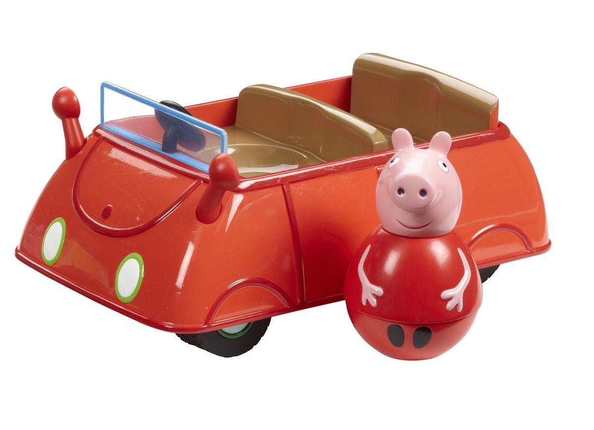 Peppa Pig Игровой набор Машина Пеппы неваляшки с фигуркойПеппы игровой набор peppa pig семья пеппы папа свин и джорж 2 предмета от 3 лет 20837
