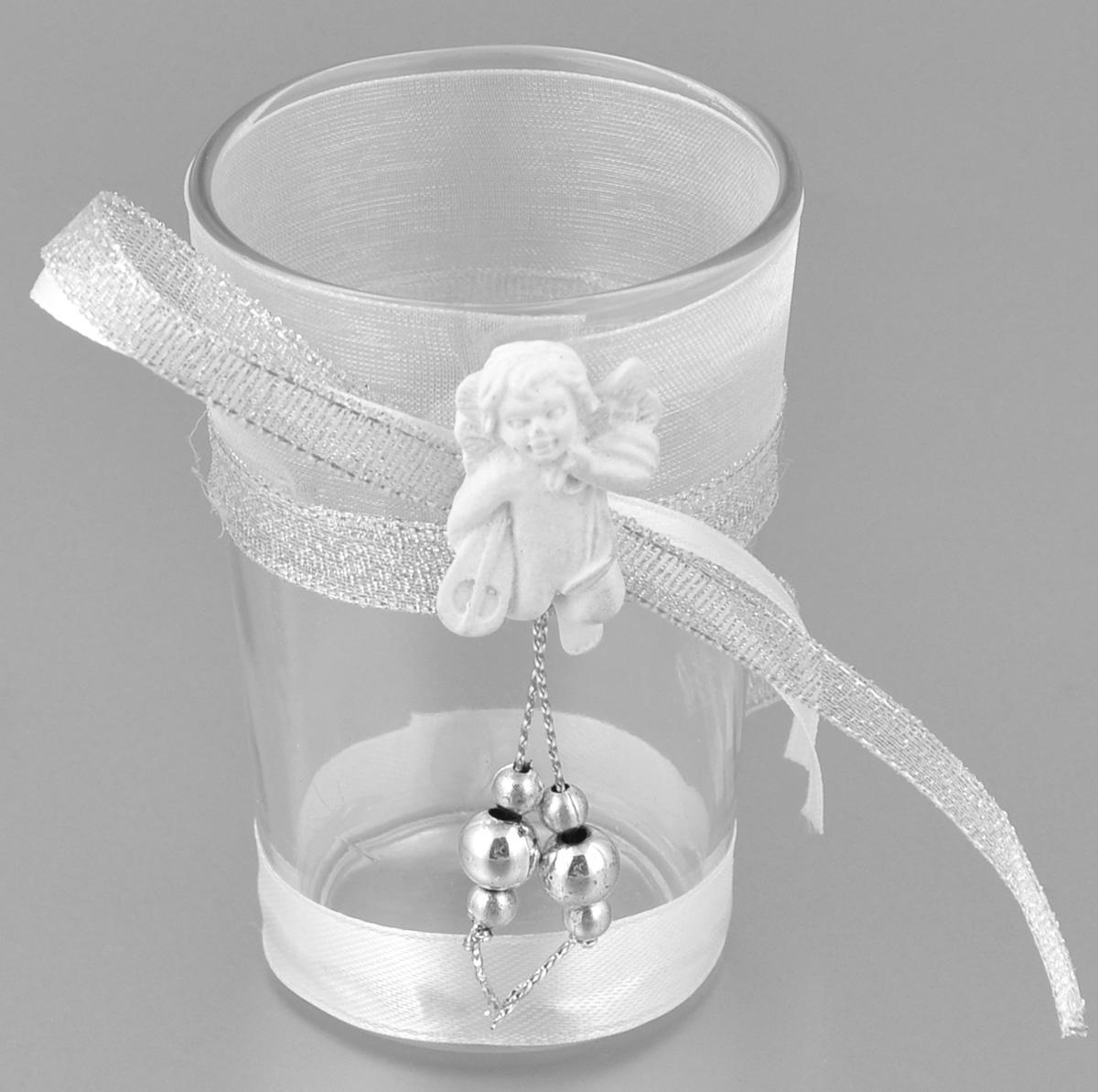 Подсвечник декоративный Феникс-презент Ангел с музыкальным инструментом, высота 8,5 см1056100Декоративный подсвечник Феникс-презент Ангел с музыкальным инструментом, изготовленный из прочного стекла, декорирован фигуркой ангела и ленточкой. Такой подсвечник станет отличным выбором для тех, кто хочет сделать запоминающийся подарок родным и близким. Кроме того, он может хорошо вписаться в интерьер вашего дома или дачи.