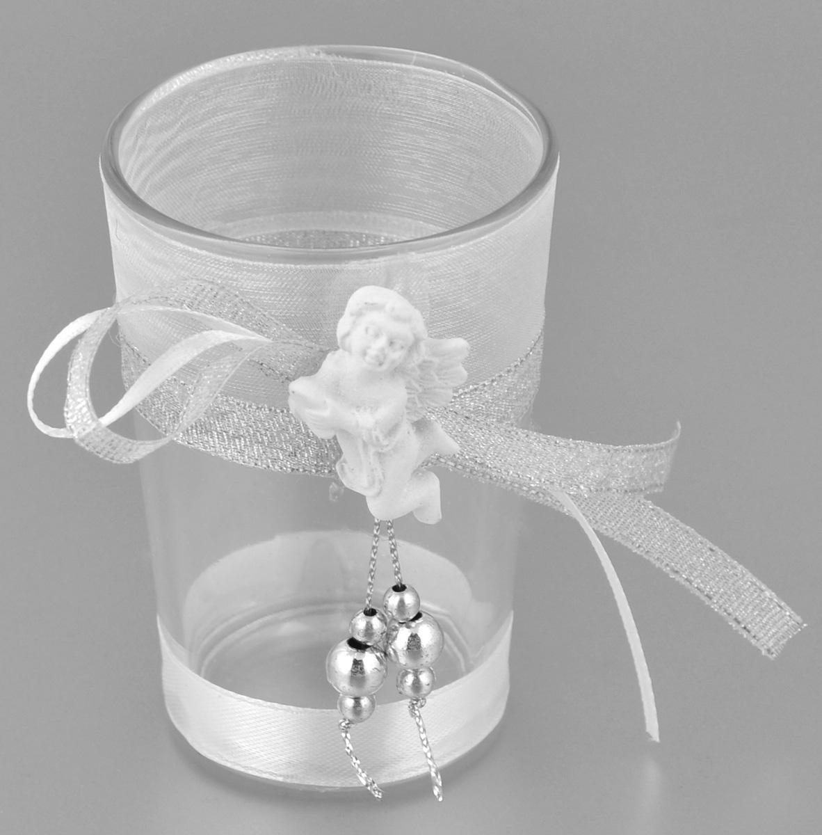 Подсвечник декоративный Феникс-презент Ангел, высота 8,5 смRG-D31SДекоративный подсвечник Феникс-презент Ангел, изготовленный из прочного стекла, декорирован фигуркой ангела и ленточкой. Такой подсвечник станет отличным выбором для тех, кто хочет сделать запоминающийся подарок родным и близким. Кроме того, он может хорошо вписаться в интерьер вашего дома или дачи.