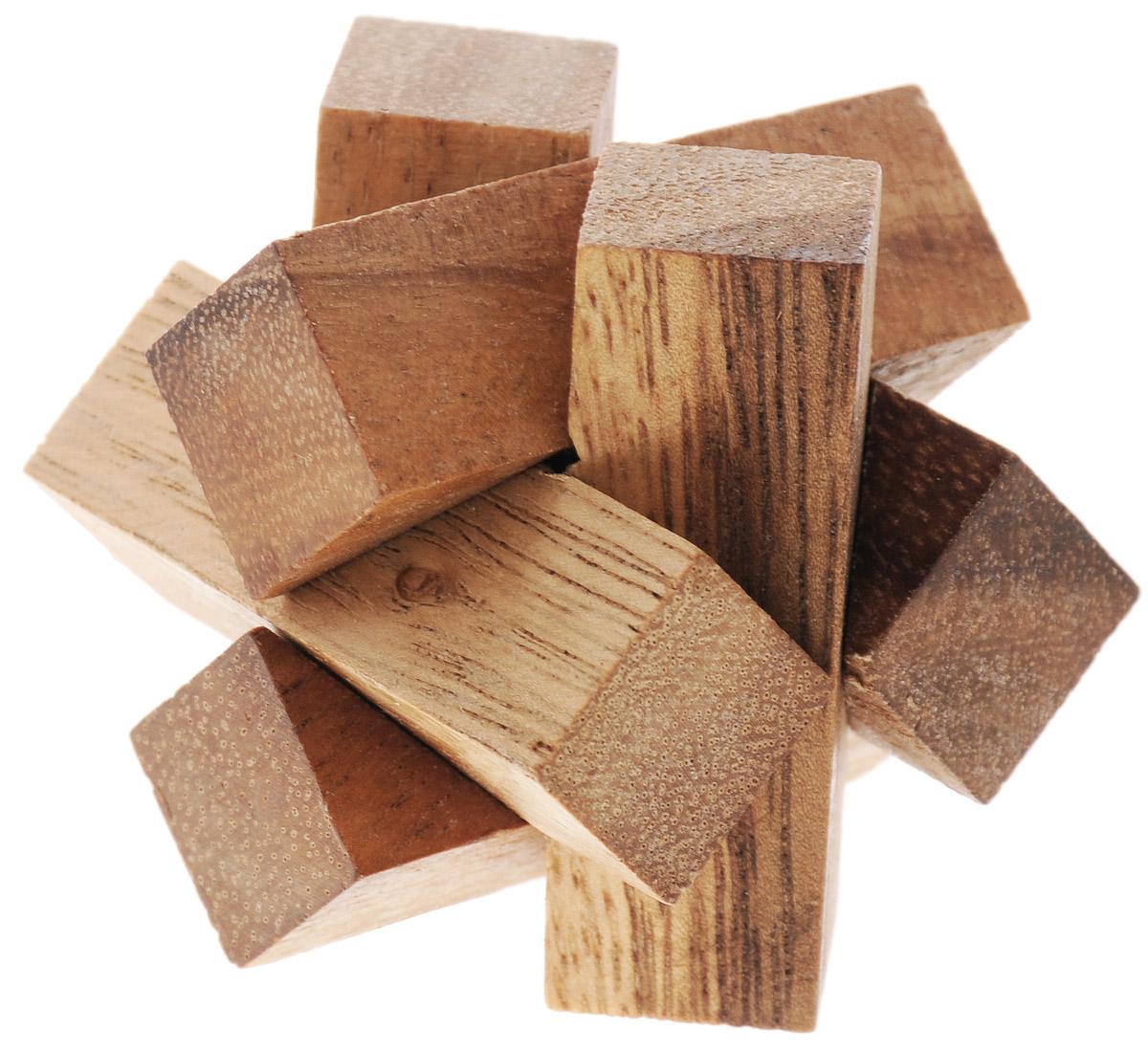 """Головоломка Dilemma """"Заблокированные бруски"""", выполненная из дерева, станет отличным подарком всем любителям головоломок! Головоломка состоит из 6 деревянных элементов. Попробуйте разобрать бруски (это нетрудно), а затем собрать их обратно (это сложнее). Если слишком сложно, то воспользуйтесь предложенной подсказкой в инструкции. Рассчитана игра на одного игрока. Головоломка Dilemma """"Заблокированные бруски"""" стимулирует логику, пространственное мышление и мелкую моторику рук."""