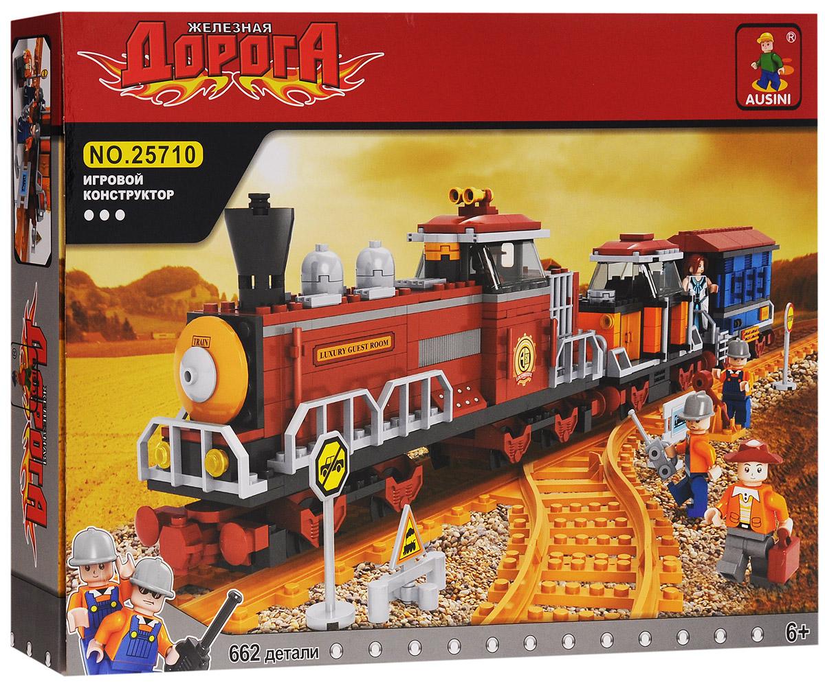 Ausini Конструктор Поезд 25710 toys lab конструктор цирковой поезд
