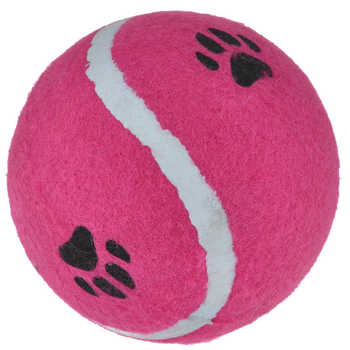 Игрушка для собак I.P.T.S. Мячик теннисный с отпечатками лап, цвет: розовый, диаметр 10 см0120710Игрушка для собак I.P.T.S. Мячик теннисный с отпечатками лап изготовлена из прочной цветной резины с ворсистой поверхностью в виде реального теннисного мяча с отпечатками лап. Предназначена для игр с собакой любого возраста. Такая игрушка привлечет внимание вашего любимца и не оставит его равнодушным. Диаметр: 10 см.