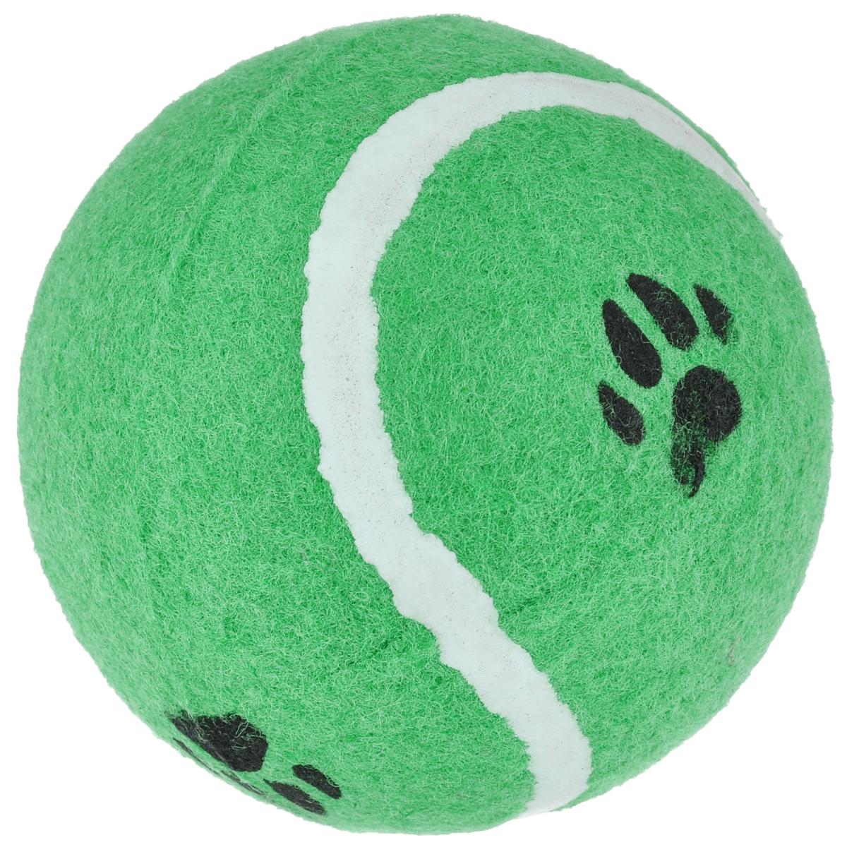 Игрушка для собак I.P.T.S. Мячик теннисный с отпечатками лап, цвет: зеленый, диаметр 10 см0120710Игрушка для собак I.P.T.S. Мячик теннисный с отпечатками лап изготовлена из прочной цветной резины с ворсистой поверхностью в виде реального теннисного мяча с отпечатками лап. Предназначена для игр с собакой любого возраста. Такая игрушка привлечет внимание вашего любимца и не оставит его равнодушным. Диаметр: 10 см.