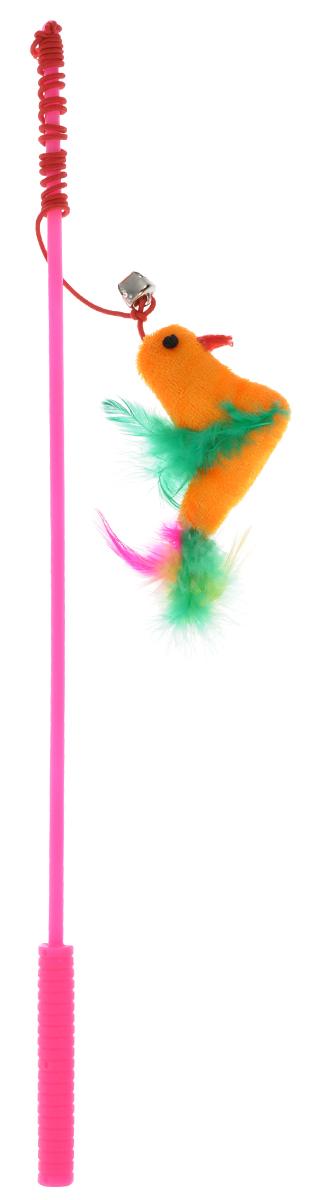 Дразнилка-удочка для кошек V.I.Pet Птица с перьями, цвет: розовыйST-101/102_розовыйДразнилка-удочка для кошек V.I.Pet Птица с перьями, изготовленная из текстиляи пластика, прекрасно подойдет для веселых игр вашего пушистого любимца.Играя с этой забавной дразнилкой, маленькие котята развиваются физически, авзрослые кошки и коты поддерживают свой мышечный тонус. Яркая игрушка наконце удочки сразу привлечет внимание вашего любимца, не навредит здоровью,и увлечет его на долгое время. Длина удочки: 37 см.Размер игрушки: 11 см х 5 см х 2 см.