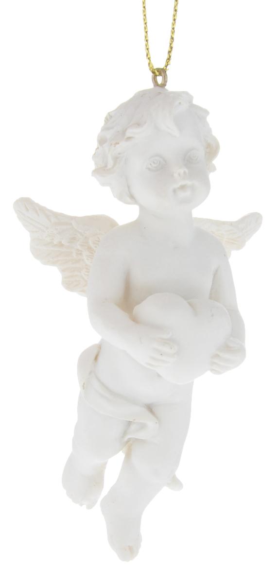 Новогоднее подвесное украшение Феникс-презент Ангел, цвет: белый, 3,5 х 5 х 8 см1114000Подвесное украшение Феникс-презент Ангел, выполненное из полирезина в виде ангела, прекрасно подойдет для праздничного декора вашей ели. С помощью специальной петельки его можно повесить в любом понравившемся вам месте. Но, конечно, удачнее всего такая игрушка будет смотреться на праздничной елке. Елочная игрушка - символ Нового года и Рождества. Она несет в себе волшебство и красоту праздника. Создайте в своем доме атмосферу веселья и радости, украшая новогоднюю елку нарядными игрушками, которые будут из года в год накапливать теплоту воспоминаний.