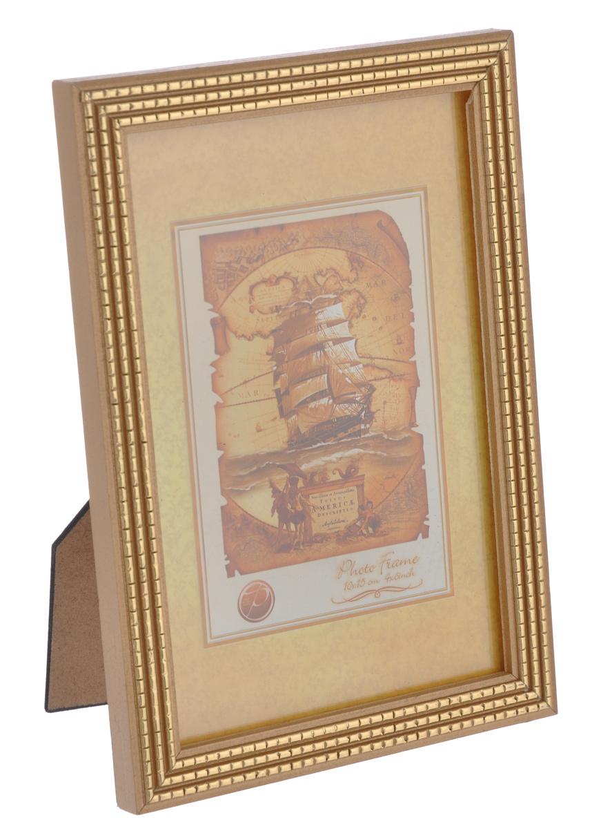 Фоторамка Pioneer Meggy, светло-коричневый, золотистый, 10 х 15 смБрелок для ключейФоторамка Pioneer Meggy выполнена в классическом стиле из натурального дерева и стекла, защищающего фотографию. Оборотная сторона рамки оснащена специальной ножкой, благодаря которой ее можно поставить на стол или любое другое место в доме или офисе. Также на изделие имеются два специальных отверстия для подвешивания. Такая фоторамка поможет вам оригинально и стильно дополнить интерьер помещения, а также позволит сохранить память о дорогих вам людях и интересных событиях вашей жизни.