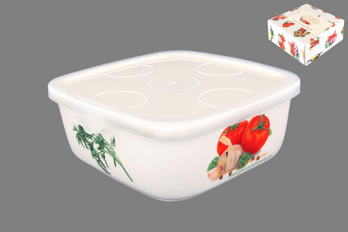 Блюдо для холодца Elan Gallery Помидоры, с крышкой, 700 млVT-1520(SR)Блюдо для холодца Elan Gallery Помидоры, изготовленное из высококачественной керамики, предназначено для приготовления и хранения заливного или холодца. Пластиковая крышка, входящая в комплект, сохранит свежесть вашего блюда. Также блюдо можно использовать для приготовления и хранения салатов. Оформлено изделие оригинальным рисунком. Такое блюдо украсит сервировку вашего стола и подчеркнет прекрасный вкус хозяйки.Не использовать в микроволновой печи. Размер блюда (Д х Ш х В): 16 см х 16 см х 6,5 см.