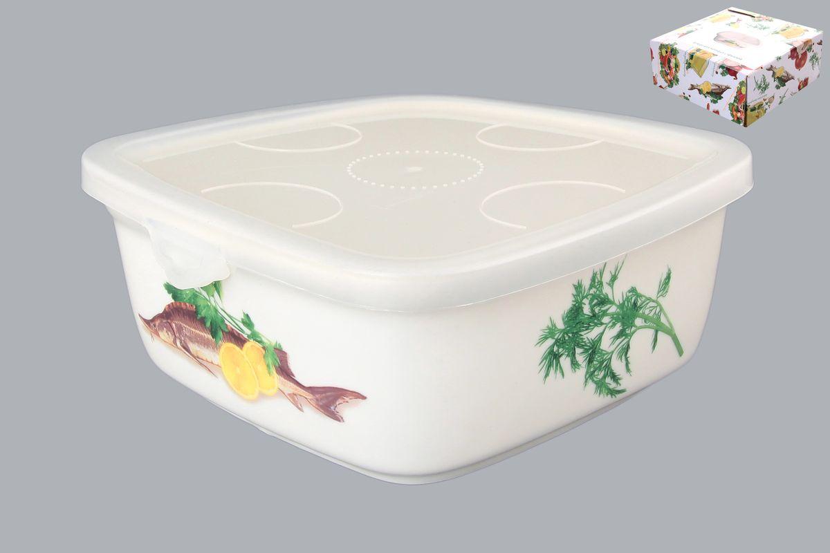 Блюдо для холодца Elan Gallery Осетр, с крышкой, 700 млVT-1520(SR)Блюдо для холодца Elan Gallery Осетр, изготовленное из высококачественной керамики, предназначено для приготовления и хранения заливного или холодца. Пластиковая крышка, входящая в комплект, сохранит свежесть вашего блюда. Также блюдо можно использовать для приготовления и хранения салатов. Оформлено изделие оригинальным рисунком. Такое блюдо украсит сервировку вашего стола и подчеркнет прекрасный вкус хозяйки.Не использовать в микроволновой печи. Размер блюда (Д х Ш х В): 16 см х 16 см х 6,5 см.