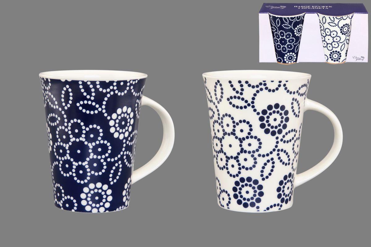 Набор кружек Elan Gallery Цветы, цвет: белый, синий, 320 мл, 2 шт54 009312Набор Elan Gallery Цветы состоит из двух кружек, выполненных из керамики.Этот необычный набор станет великолепным подарком для каждого и, несомненно, вызовет восхищение. Объем кружек: 320 мл. Диаметр кружек (по верхнему краю): 8,5 см. Высота кружек: 11 см.Не рекомендуется применять абразивные моющие средства. Не использовать в микроволновой печи.