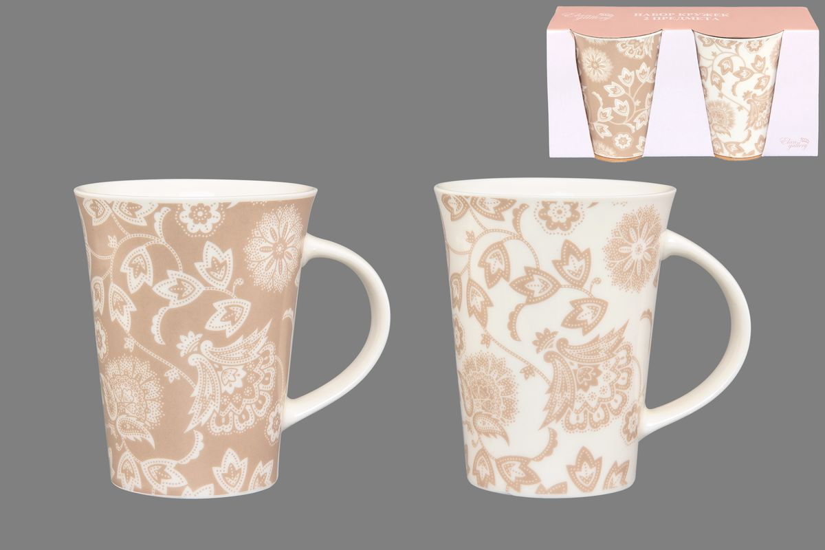 Набор кружек Elan Gallery Изящные цветы, цвет: белый, бежевый, 320 мл, 2 шт115510Набор Elan Gallery Изящные цветы состоит из двух кружек, выполненных из керамики.Этот необычный набор станет великолепным подарком для каждого и, несомненно, вызовет восхищение. Объем кружек: 320 мл. Диаметр кружек (по верхнему краю): 8,5 см. Высота кружек: 11 см.Не рекомендуется применять абразивные моющие средства. Не использовать в микроволновой печи.