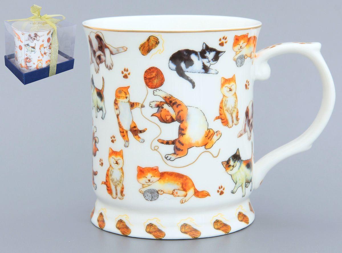 Кружка Elan Gallery Веселые кошечки, 400 мл115510Оригинальная кружка Elan Gallery Веселые кошечки выполнена из высококачественной керамики. Подойдет для чая, кофе и других напитков. Удобна в использовании благодаря устойчивой форме. Изделие имеет подарочную упаковку.Не рекомендуется применять абразивные моющие средства.Не рекомендуется использовать в микроволновой печи. Диаметр (по верхнему краю): 9 см.Высота: 10 см. Объем: 400 мл.