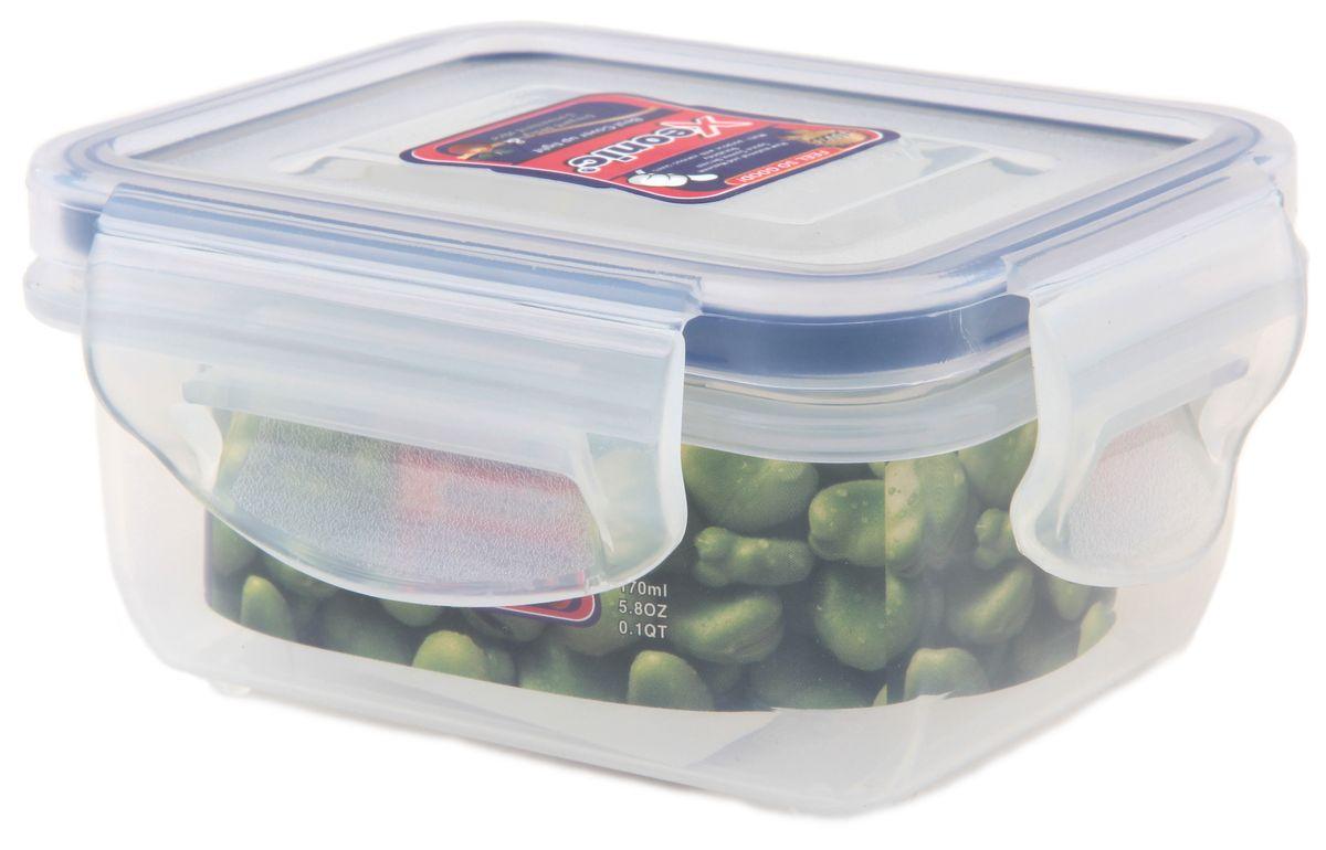 Контейнер Xeonic, цвет: прозрачный, синий, 160 мл21395599Пластиковые герметичные контейнеры для хранения продуктов Xeonic произведены из высококачественных материалов, имеют 100% герметичность, термоустойчивы, могут быть использованы в микроволновой печи и в морозильной камере, устойчивы к воздействию масел и жиров, не впитывают запах. Удобны в использовании, долговечны, легко открываются и закрываются, не занимают много места, можно мыть в посудомоечной машине. Размер: 8,5 см х 6,5 см х 4 см.