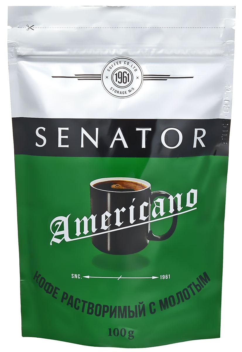 Senator Americano кофе растворимый, 100 г4607141332173Добавление колумбийской арабики делает вкус кофе Senator Americano ровным, насыщенным, и по-настоящему американским. Идеален для приготовления кофе на каждый день.