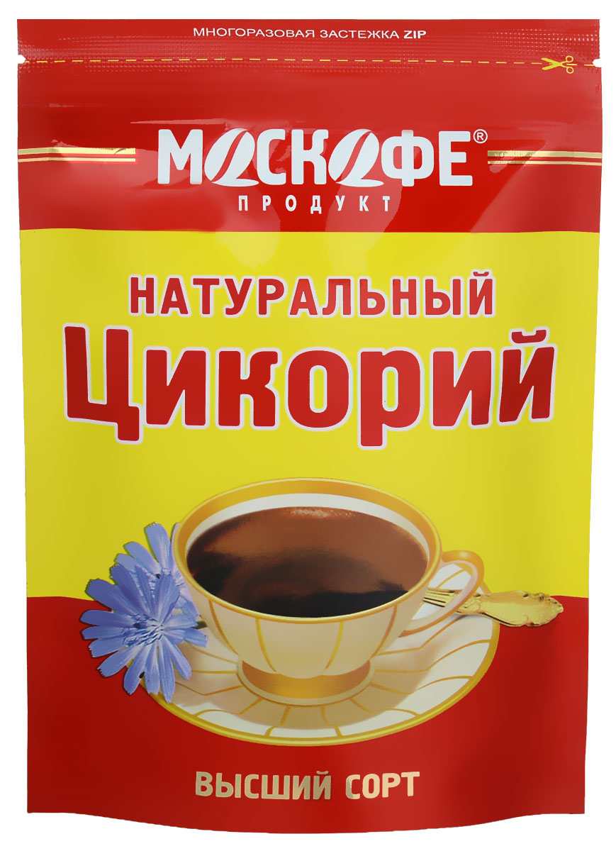 Москофе Московский цикорий, 100 г0120710Москофе Московский цикорий - это 100% натуральный растворимый цикорий, без добавления сахара, кофеина, и примесей. Заваренный напиток обладает нежным цветочным ароматом.