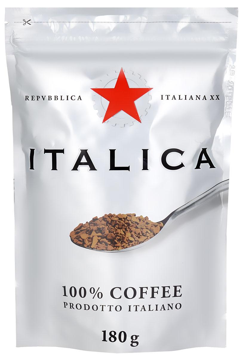 Italica кофе растворимый, 180 г4600696490220Кофе Italica создан мастерами старой школы с уважением к итальянским кофейным традициям. Богатую палитру его вкуса составляют лучшие кофейные зерна Бразилии, Кении, Центральной Америки, Мексики и Ямайки. Попробуйте традиционный кофе - шедевр итальянского кофейного искусства!