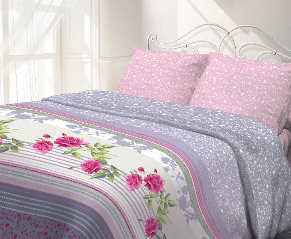 Комплект белья Гармония Виктория, 2-спальный, наволочки 70x70, цвет: розовый, белый, серыйFD-59Комплект постельного белья Гармония Виктория является экологически безопасным, так как выполнен из поплина (100% хлопка). Комплект состоит из пододеяльника, простыни и двух наволочек. Постельное белье оформлено красивым цветочным рисунком и имеет изысканный внешний вид. Постельное белье Гармония - лучший выбор для современной хозяйки! Его отличают демократичная цена и отличное качество. Поплин мягкий и приятный на ощупь. Кроме того, эта ткань не требует особого ухода, легко стирается и прекрасно держит форму. Высококачественные красители, которые используются при производстве постельного белья, сохраняют свой цвет даже после многочисленных стирок. Благодаря высокому качеству ткани и европейским стандартам пошива постельное белье Гармония Виктория будет радовать вас долгие годы!