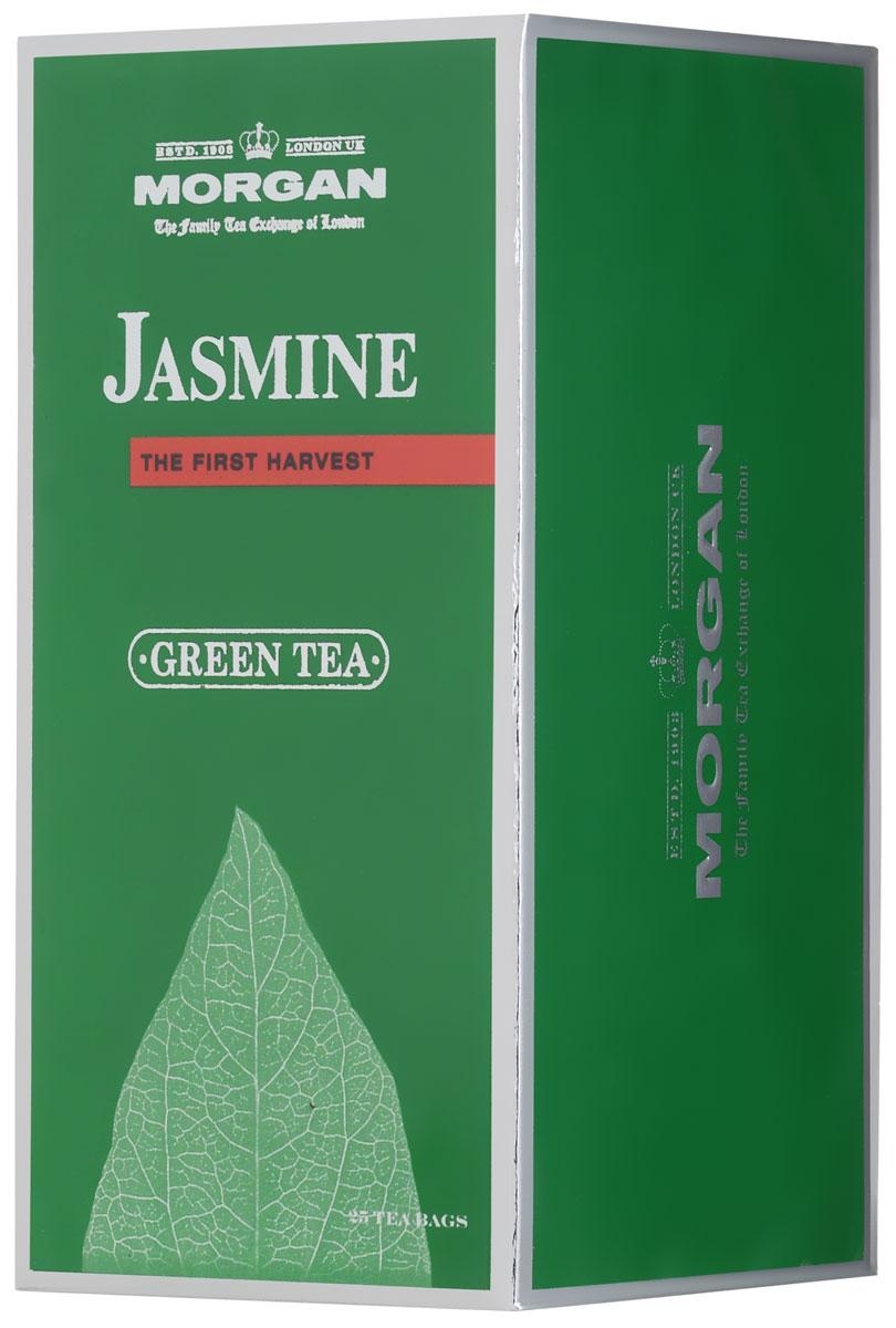 Morgan Jasmine чай зеленый в пакетиках, 25 шт0120710Жасмин для чая Morgan Jasmineбыл собран летом в провинции Фуцзянь, расположенной в юго-восточной части Китая. Классический вкус освежит и придаст сил, а аромат жасмина напомнит о лете.