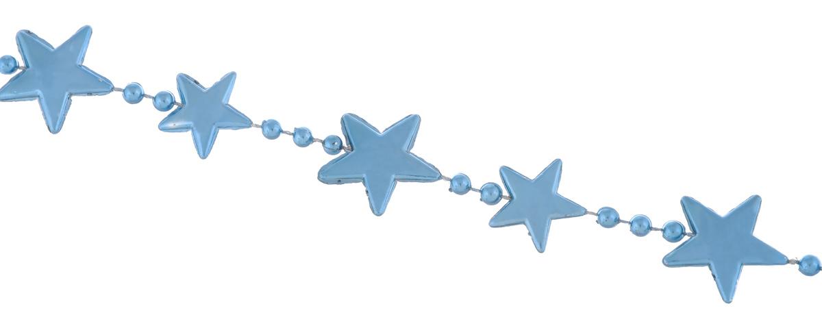 Гирлянда новогодняя EuroHouse Звезды, цвет: бирюзовый, длина 2 мNLED-454-9W-BKНовогодняя гирляндаEuroHouse Звезды отлично подойдет для декорации вашего дома и ели. Изделие, выполненное из пластика, представляет собой гирлянду, на текстильной нити, на которой нанизаны фигурки в виде звезд и бусин. Новогодние украшения несут в себе волшебство и красоту праздника. Они помогут вам украсить дом к предстоящим праздникам и оживить интерьер по вашему вкусу. Создайте в доме атмосферу тепла, веселья и радости, украшая его всей семьей. Средний размер фигурок: 2 см х 2 см х 0,2 см.Диаметр бусины: 0,4 см.