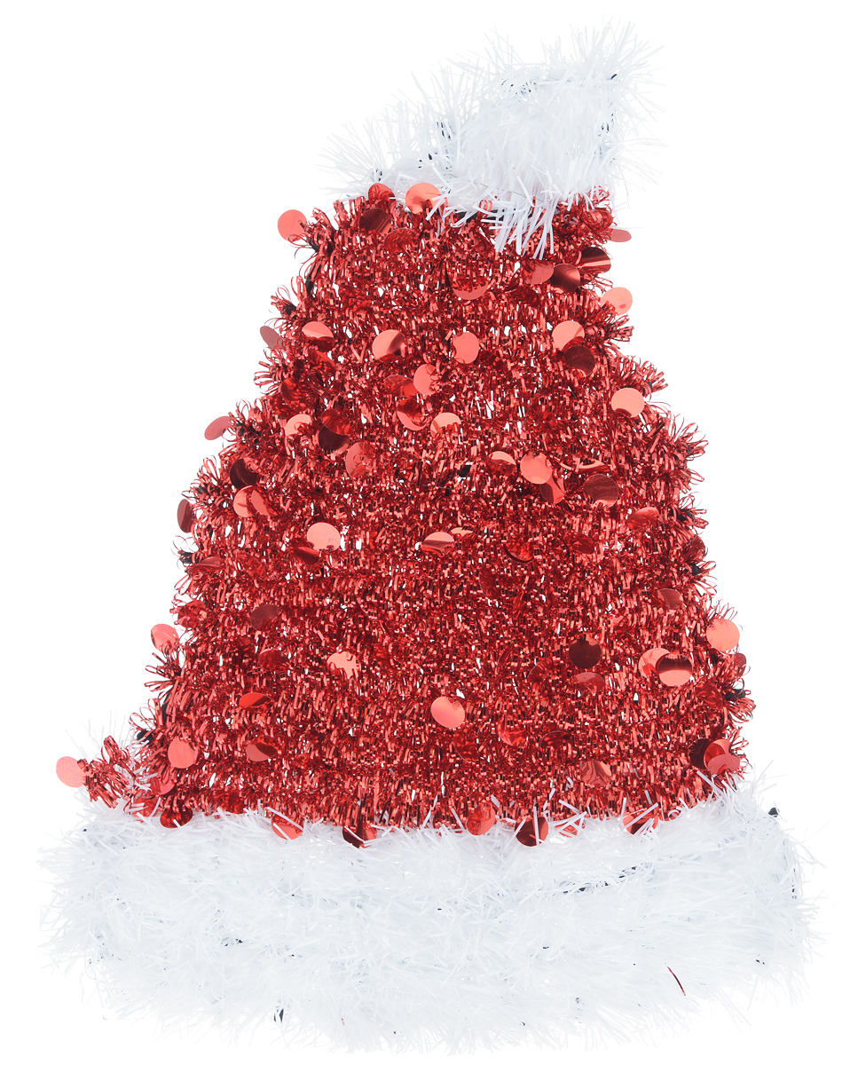 Новогоднее декоративное украшение EuroHouse Колпак, цвет: красный, белый, 26 х 34 см64466Украшение EuroHouse Колпак имеет прочный пластиковый каркас, декорированный мишурой. Декоративный колпак дополнит интерьер любого помещения, а также может стать оригинальным подарком для ваших друзей и близких. Оформление помещения декоративным украшением создаст праздничную, по-настоящему радостную и теплую атмосферу.Новогодние украшения всегда несут в себе волшебство и красоту праздника. Создайте в своем доме атмосферу тепла, веселья и радости, украшая его всей семьей.