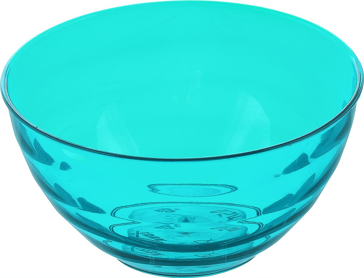 Салатник Idea Аква, цвет: аквамарин, прозрачный, 500 млE4902Круглый салатник Idea Аква изготовлен из высококачественного пищевого полистирола. Изделие предназначено для сервировки салатов, закусок и других блюд. Поверхность салатника гладкая и легко чистится. Такой салатник пригодится в любом хозяйстве. Объем: 500 мл. Диаметр салатника (по верхнему краю): 12,5 см. Высота салатника: 6,5 см.