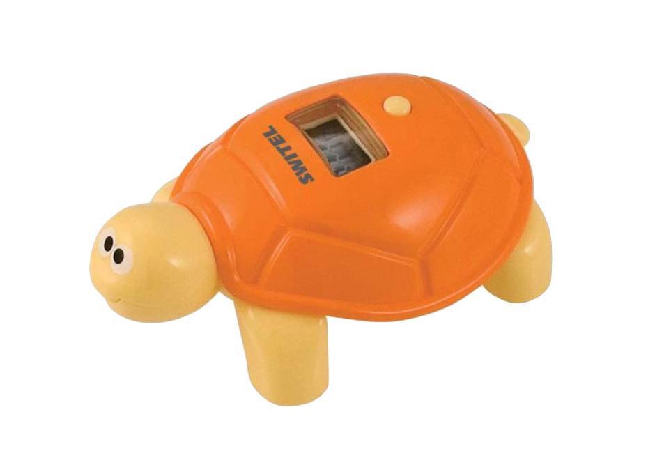 Термометр Switel BC200 поможет точно определять температуру воды при купании малыша. Рекомендуется чтобы температура была от 32 до 38 градусов. Водонепроницаемый корпус термометра сделан в виде красивой черепашки, его можно использовать в качестве игрушки.