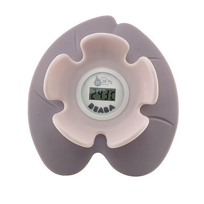 """Цифровой электронный термометр для ванны Bebaba """"Neneuphar"""" позволяет определить температуру воды, обеспечивающую комфортное купание ребенка. Термометр, выполненный в виде водяной лилии - кувшинки, показывает точную температуру воды в ванне и температуру воздуха в помещении. Дизайн термометра позволяет ему с легкостью держаться на воде. Такой термометр незаменим для заботливых мамочек, а также он станет прекрасной игрушкой для малыша во время купания."""