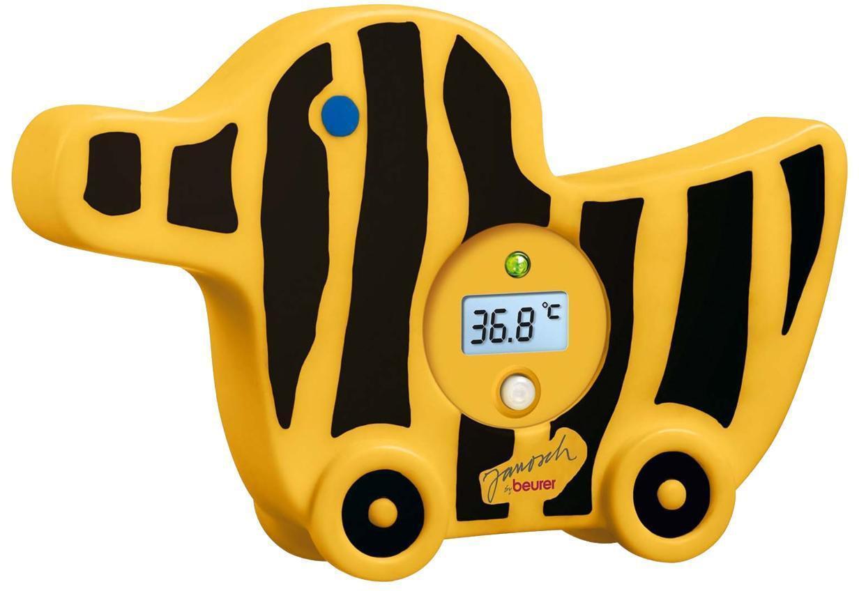 Beurer JBY 08 - это детский водонепроницаемый термометр для ванной. Он выполнен в виде собачки и его можно использовать в качестве игрушки для ребенка. Термометр сигнализирует о горячей воде и имеет светодиодную индикацию температуры. Он полностью безопасен для ребенка и обладает автоматическим отключением через 10 минут.