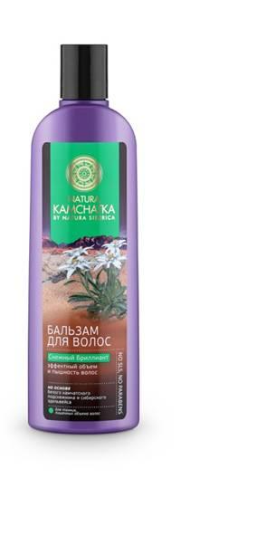Natura Siberica Kamchatka Бальзам Снежный Бриллиант Эффектный объем и пышность волос, 280 мл4752Natura Kamchatka Бальзам Снежный Бриллиант Эффектный объем и пышность волос, 280 мл.Камчатский подснежник обладает поразительной жизненной силой и энергией. Это удивительное растение весь год накапливает питательные вещества, чтобы зацвести ранней весной. Благодаря высокой концентрации растительных полисахаридов - в 3 раза больше, чем в сахарном тростнике- камчатский подснежник устойчив к морозам и способен расти даже под снегом. Комплекс полисахаридов создает защитную пленку, удерживая влагу внутри стержня волоса, защищая от пересыхания и ломкости.Сибирский эдельвейс вбирая в себя всю силу богатых минералами вулканических почв, обладает свойством активной стимуляции роста волос и борьбы с их выпадением. В результате волосы приобретают густоту и роскошный объем.Ультралегкая формула без SLS, силикона и парабенов не утяжеляет волосы.Особенности состава: Ультралегкая формула без SLS, силикона и парабенов не утяжеляет волосы. (*) - органические ингредиенты (WH) - органические экстракты дикорастущих растений Сибири (PS) - производное масла сибирского кедра (HR) – производное масла алтайской облепихи Эффект от использования: Эффектный объем и пышность волос.