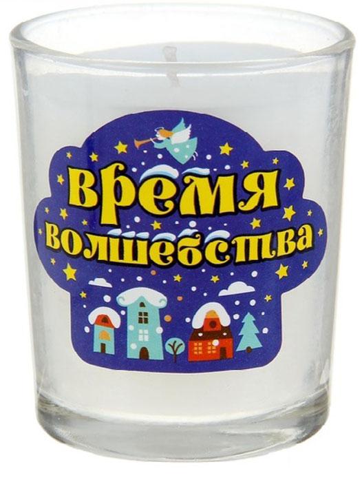 Свеча ароматизированная Sima-land Время волшебства, высота 6 см67757_2Декоративная свеча Sima-land Время волшебства изготовлена из воска и расположена в стеклянном стакане. Изделие отличается оригинальным дизайном и приятным ванильным ароматом. Такая свеча может стать отличным подарком или дополнить интерьер вашей комнаты.