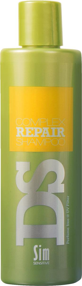 SIM SENSITIVE Шампунь для восстановления волос Repair 250 млMP59.4DШампунь Рипеир входит в состав Рипеир комплекса DS by Sim Sensitive. Шампунь не только эффективно очищает кожу головы и волосы, но и оказывает питающее и защитное действие за счет таких ингредиентов как аргановое масло, протеины пшеницы и гидролизованный белок. Кроме того, шампунь снабжен УФ-фильтром, защищающим волосы от ультрафиолета. Шампунь не содержит сульфаты, парабены и ароматизаторы.Состав:вода,дисодиум лоурет сульфосукцинат, моющее средство на основе кокосового масла, глицерин, аргановое масло,производные гидролизованного белка пшеницы,гидролизованный растительный белок, УФ фильтр.