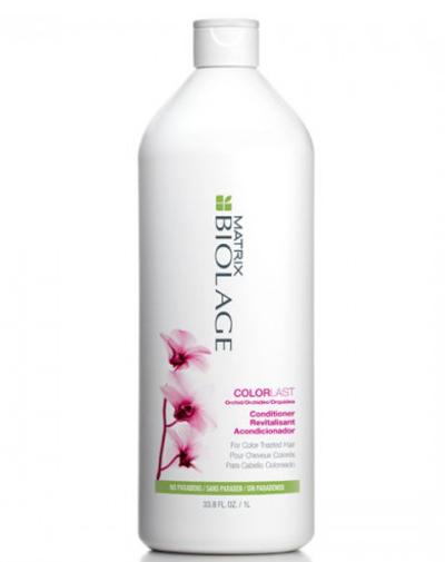 Matrix Biolage Colorlast Кондиционер 1лSatin Hair 7 BR730MNУникальный кондиционер насыщает окрашенные волосы влагой, продлевая глянцевый блеск их яркого цвета. Придает мягкость, защищает глубину цвета и облегчает расчесывание. Не содержит парабенов.