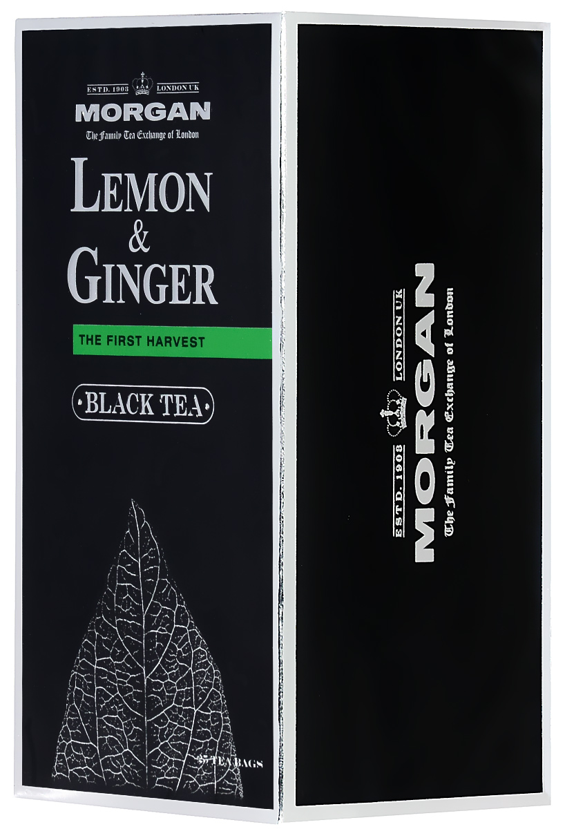 Morgan Lemon & Ginger чай черный в пакетиках, 25 шт70881-00Пряный и согревающий классический чай с лимоном и имбирем Morgan придется по вкусу всем любителям напитка и прекрасно взбодрит в любое время суток.