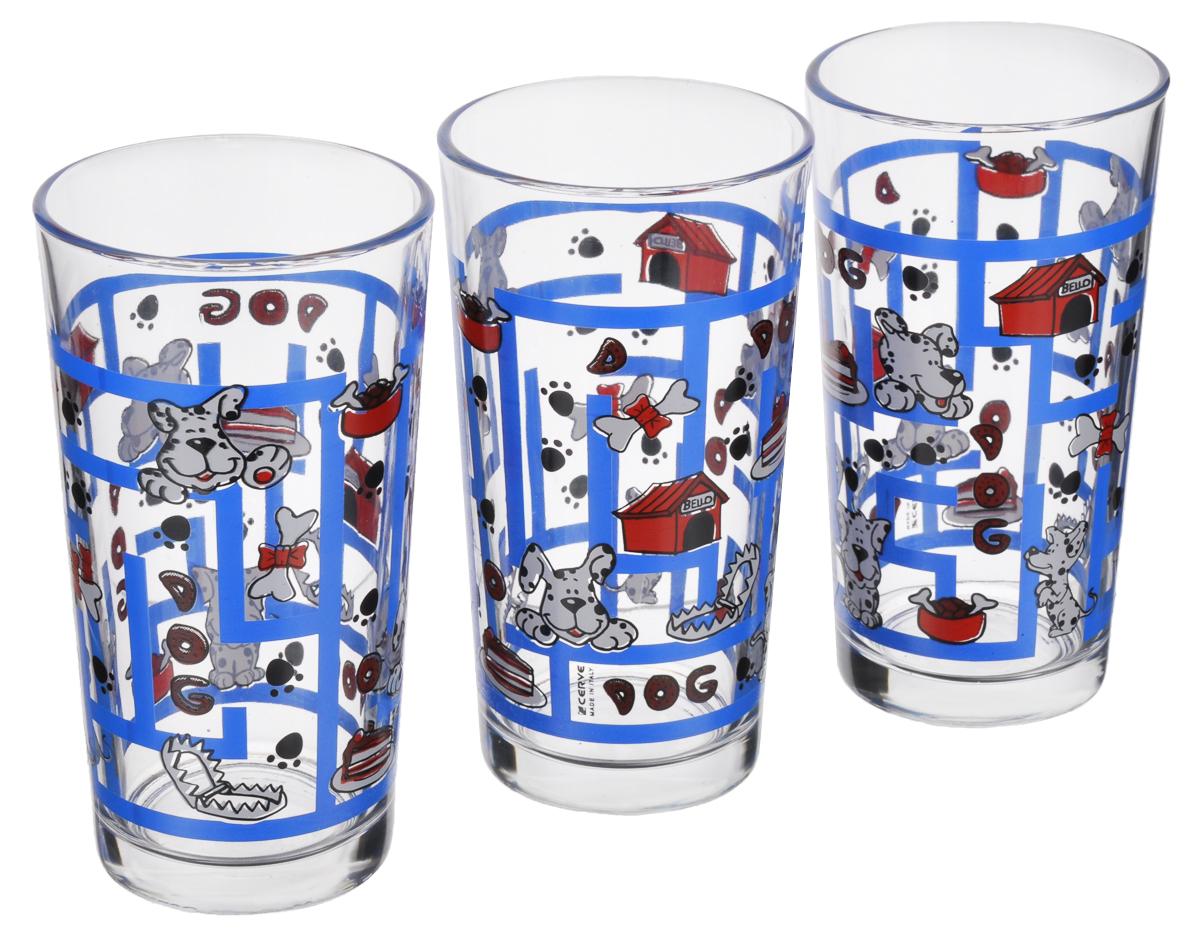 Набор стаканов Cerve Лабиринт. Собаки, 250 мл, 3 штVT-1520(SR)Набор Cerve Лабиринт. Собаки состоит из 3 стаканов, изготовленных из высококачественного стекла. Изделия оформлены изображениями собак в лабиринте. Такой набор идеально подойдет для сервировки стола и станет отличным подарком к любому празднику. Разрешается мыть в посудомоечной машине. Диаметр стакана (по верхнему краю): 6,5 см. Высота стакана: 12 см.