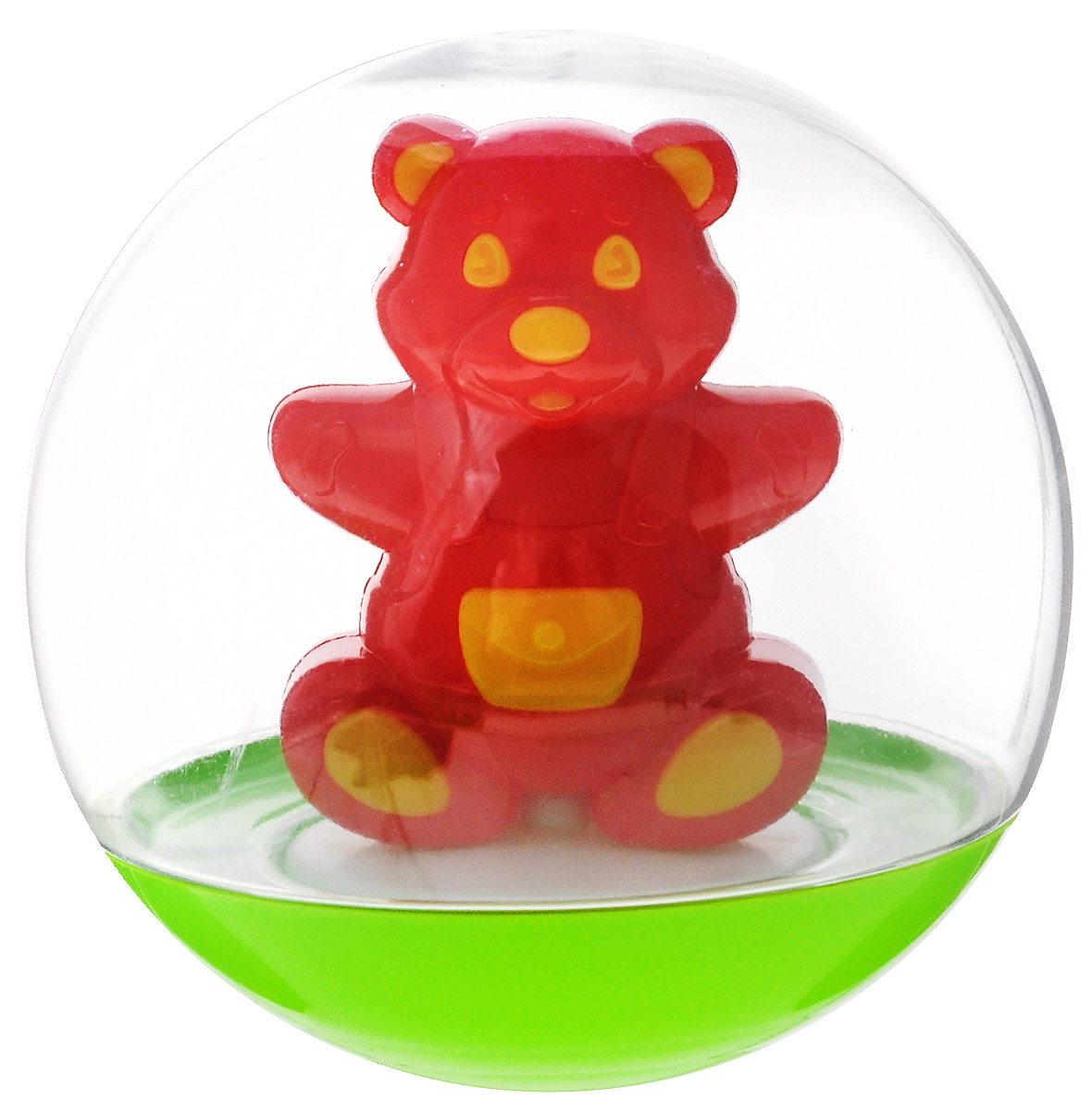 Stellar Погремушка-неваляшка Мишка цвет красный желтый