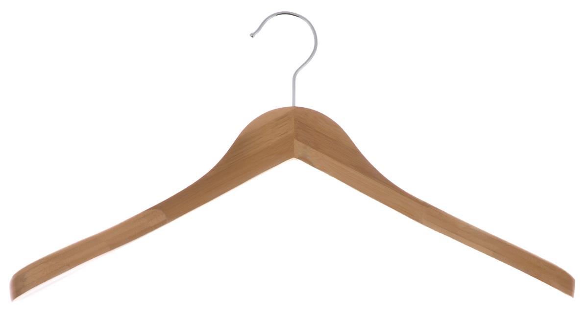 Вешалка для одежды Huahai, 45 см14022Вешалка для одежды Huahai выполнена из бамбука с прочным металлическим крючком.Вешалка - это незаменимая вещь для того, чтобы ваша одежда всегда оставаласьв хорошем состоянии.Размер вешалки: 45 см х 6 см х 27 см.