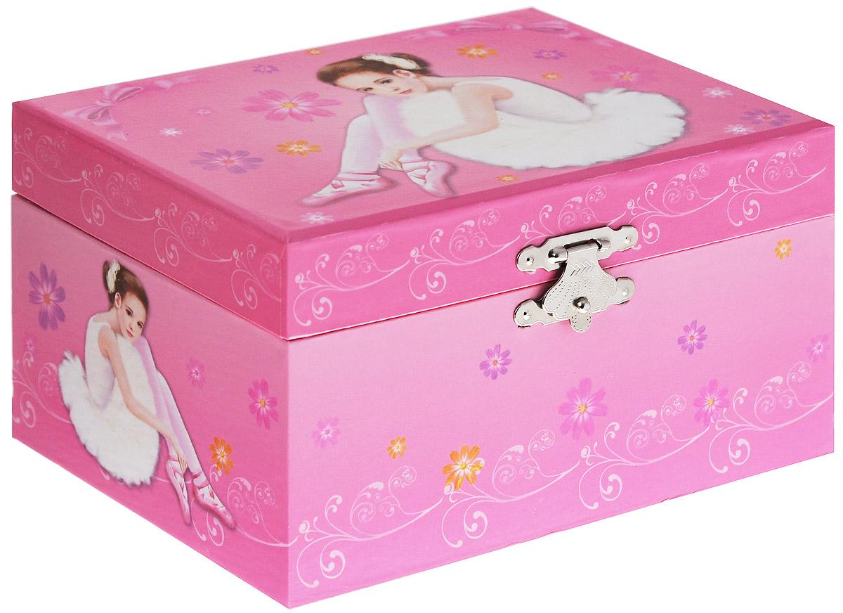 Jakos Музыкальная шкатулка Балерина цвет розовый jakos маленькая музыкальная шкатулка в форме цветка
