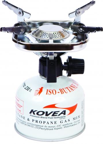 Горелка газовая Kovea Vulcan Stove ТКВ-8901PF-GST-N01Газовая горелка Kovea TKB-8901 Vulcan Stove - популярная портативная туристическая газовая горелка с пьезоподжигом. Благодаря увеличенному размеру головки, пламя горелки рассеивается, что уменьшает вероятность пригорания пищи. Раскладные лапки конфорки позволяют использовать посуду большого размера и приготовить пищу для нескольких человек. Теплоотражающий экран квадратной формы экономит топливо и эффективно отражает тепло газовой горелки на дно посуды, увеличивая тем самым КПД. Горелка работает от газового баллона резьбового стандарта, но возможно и подсоединение к цанговому газовому баллону при помощи адаптера со шлангом Cobra. Данные аксессуары приобретаются отдельно. Комплектация: горелка, пластиковый кофр, инструкция по эксплуатации. Мощность: 1,53 кВт. Вес: 338 г. Топливо: газ. Расход топлива: 160 г/ч. Размер (в походном положении): 122 мм x 100 мм x 125 мм.Диаметр конфорки: 19 см.