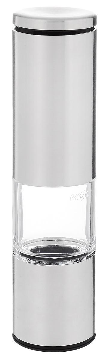 Мельница для специй Emsa Accenta, высота 20 см2012235UМельница Emsa Accenta, изготовленная из пищевой стали и пластика, легка в использовании. Стоит только покрутить механизм мельницы, и вы с легкостью сможете поперчить или посолить по своему вкусу любое блюдо. Механизмы мельницы изготовлены из керамики. Крышка сохраняет аромат специй.Оригинальная мельница модного дизайна будет отлично смотреться на вашей кухне.Высота мельницы: 20 см.Диаметр мельницы: 5 см.