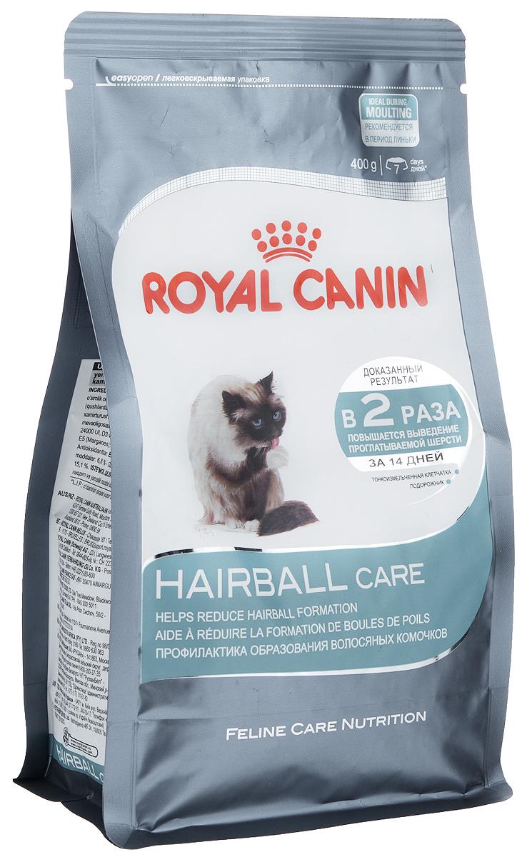 Корм сухой Royal Canin Intense Hairball 34, для полудлинношерстных взрослых кошек, 400 г0120710Сухой корм Royal Canin Intense Hairball 34 - это полноценное и сбалансированное питание, помогающее выводить комочки шерсти из желудка кошки. Доказанная эффективность. При кормлении исключительно данным рационом из пищеварительного тракта кошки выводится вдвое больше шерсти; этот эффект заметен уже через 21 день. Эвакуация естественным путем. Подорожник, богатый волокнами (растительным клеем) в сочетании с тонкоизмельченной клетчаткой стимулирует транзит пищи по кишечнику. Шерсть не скапливается в желудке и не отрыгивается, а регулярно выводится с фекалиями. Состав: дегидратированное мясо домашней птицы, рис, кукурузный глютен, растительные волокна, кукурузная мука, животные жиры, гидролизат животных белков, свекольный жом, минеральные вещества, оболочки и семена подорожника, дрожжи, соевое масло, полифосфат натрия, рыбий жир, фруктоолигосахариды, яичный порошок, DL-метионин, таурин, L-цистин.Добавки (в 1 кг):медь — 24 мг,железо — 195 мг,марганец — 61 мг/кг,цинк — 197 мг,селен — 0,2 мг,витамин A — 25000 МЕ,витамин D3 — 763 МЕ,витамин E — 600 мг,витамин C — 300 мг,витамин B1 — 28 мг,витамин B2 — 55 мг,витамин B3 — 176 мг,витамин B5 — 65 мг,витамин B6 — 52 мг,витамин B12 — 0,2 мг. Товар сертифицирован.