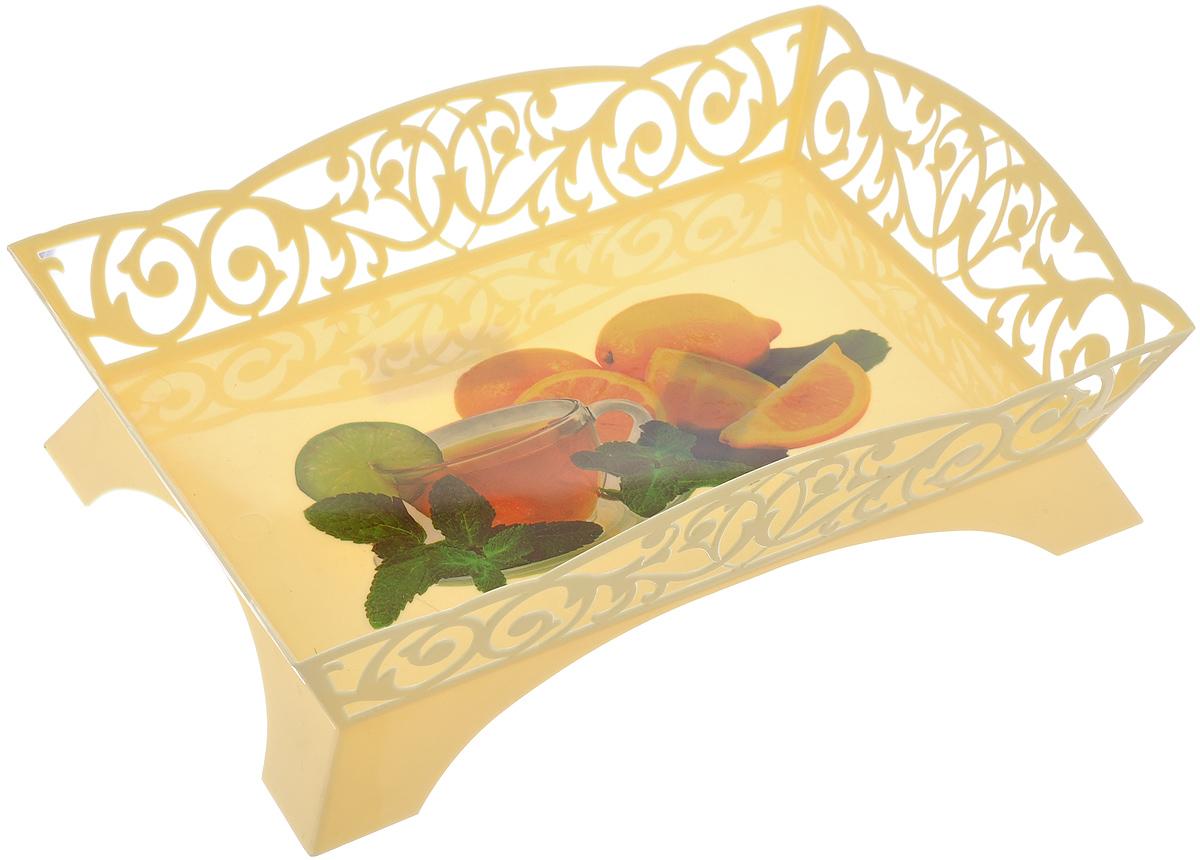 Сухарница Альтернатива Ажур, 26,5 см х 18 см115510Оригинальная сухарница на ножках Альтернатива Ажур, выполненная из пищевого пластика, предназначена для хранения конфет, пирожных и других кондитерских изделий. Изделие оформлено изящной перфорацией. Такая сухарница станет отличным дополнением к коллекции ваших кухонных аксессуаров и прекрасно оформит стол к чаепитию.