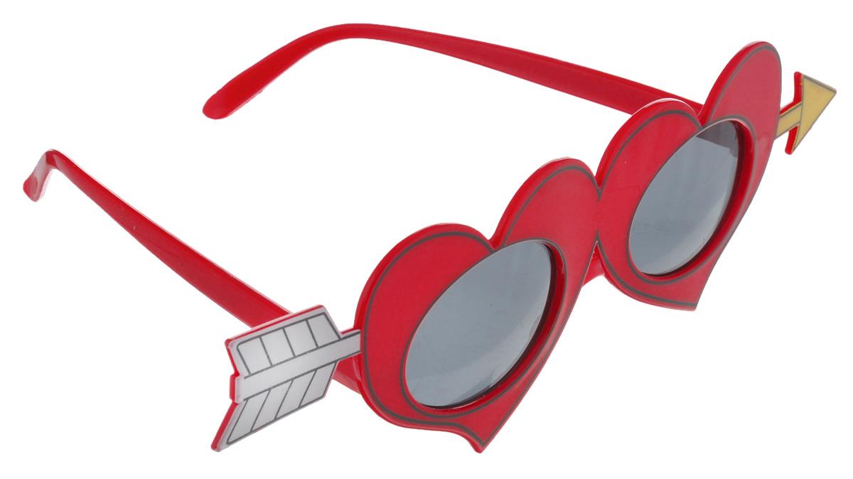"""Карнавальные очки Феникс-Презент """"Любовь"""", выполненные из пластика в виде двух сердец, пронзенных стрелой, отлично дополнят ваш маскарадный костюм и помогут создать яркий образ. Очки предназначены для быстрого и необременительного перевоплощения на костюмированной вечеринке или маскараде. Сделайте свой праздник веселым и ярким!"""