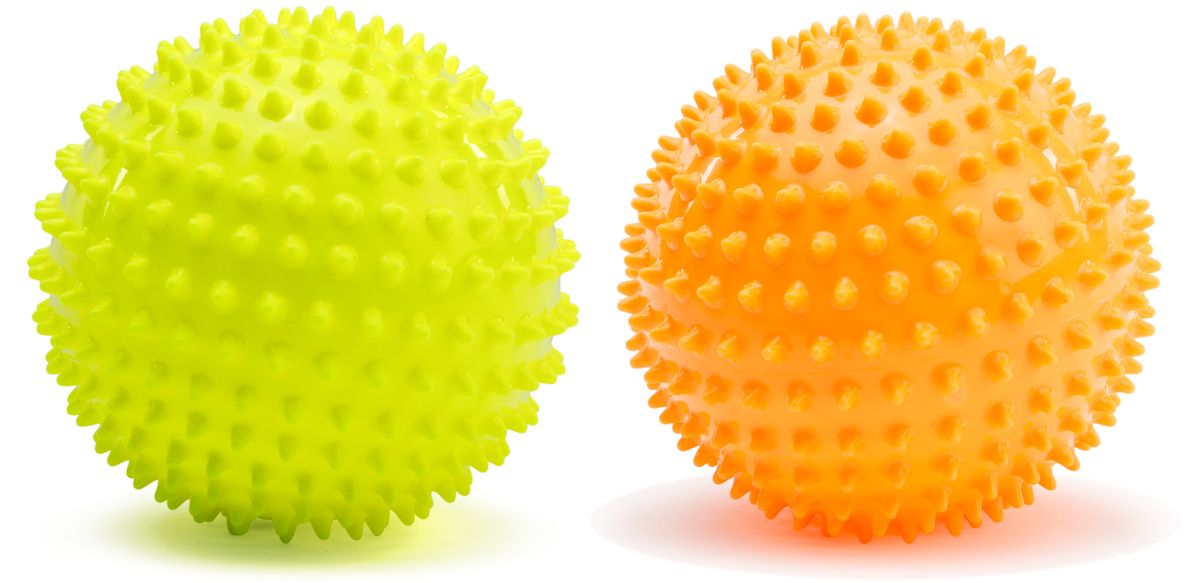 PicnMix Набор массажно-игровых мячей Геймбол 2 шт цвет желтый оранжевый