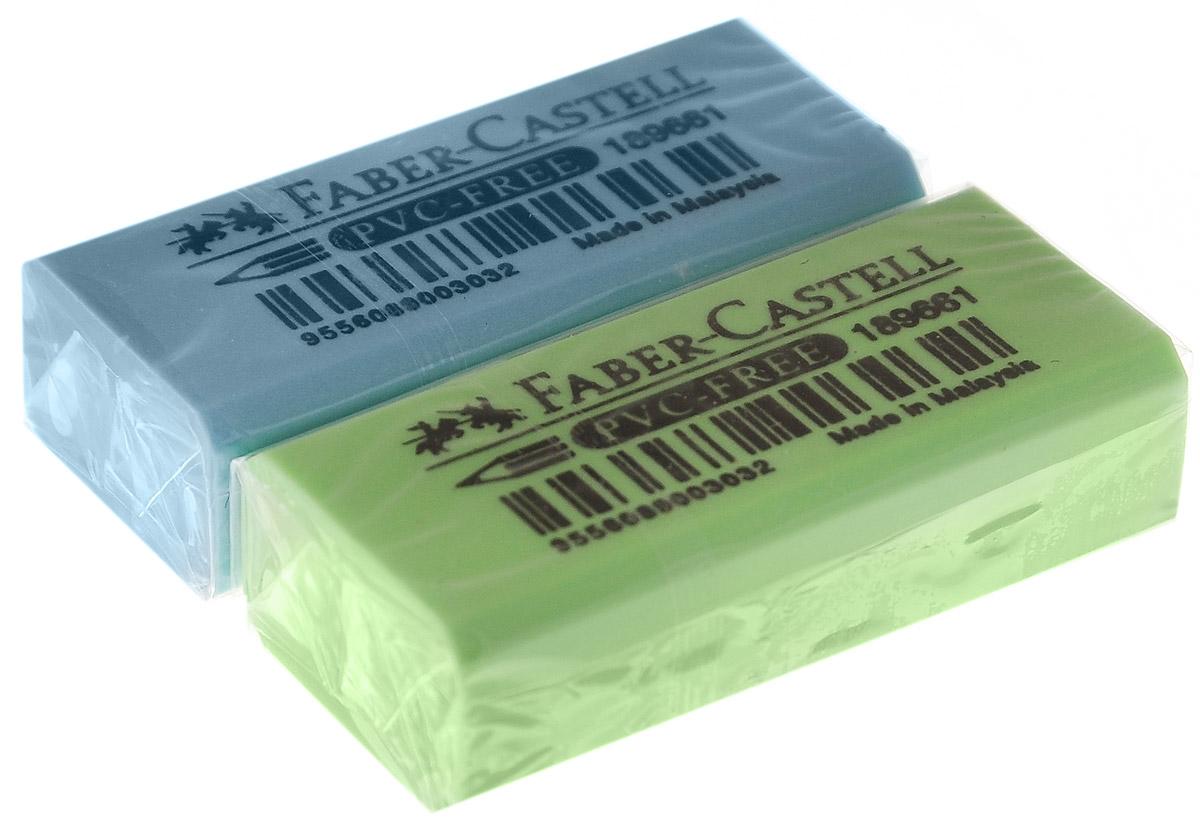 Faber-Castell Ластик флуоресцентный цвет салатовый голубой 2 шт263397_салатовый, голубойЛастик флуоресцентный Faber-Castell станет незаменимым аксессуаром на рабочем столе не только школьника или студента, но и офисного работника. Аккуратный и не оставляет грязных разводов. Кроме того высококачественный ластик не содержит ПВХ. Не повреждает бумагу даже при многократном стирании.