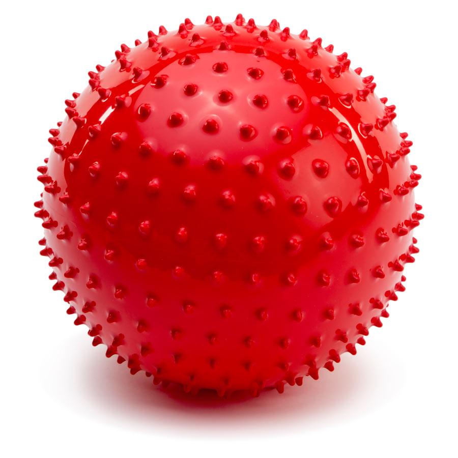 PicnMix Массажно-игровой мяч Геймбол 18 см цвет красный
