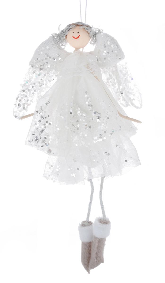 Новогоднее подвесное украшение Sima-land Воздушная девочка, цвет: белый, высота 26 см1117830Новогоднее украшение Sima-land Воздушная девочка отлично подойдет для декорации дома и новогодней ели. Украшение выполнено в виде декоративной куклы. Девочка-ангелочек одета в длинное белое пышное платье, украшенное блестками. Изделие оснащено специальной петелькой для подвешивания. Елочная игрушка - символ Нового года. Она несет в себе волшебство и красоту праздника. Создайте в своем доме атмосферу веселья и радости, украшая всей семьей новогоднюю елку нарядными игрушками, которые будут из года в год накапливать теплоту воспоминаний.